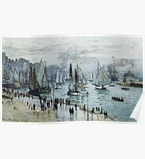 Claude Monet - Fishing Boats Leaving The Harbor Le Havre Poster