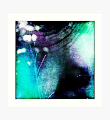 Beauty Fades // An Abstract Between Purple & Aqua Art Print