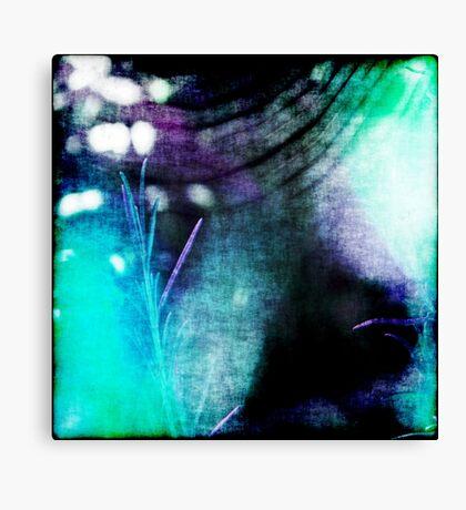 Beauty Fades // An Abstract Between Purple & Aqua Canvas Print