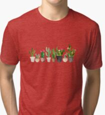 Camiseta de tejido mixto Cactus