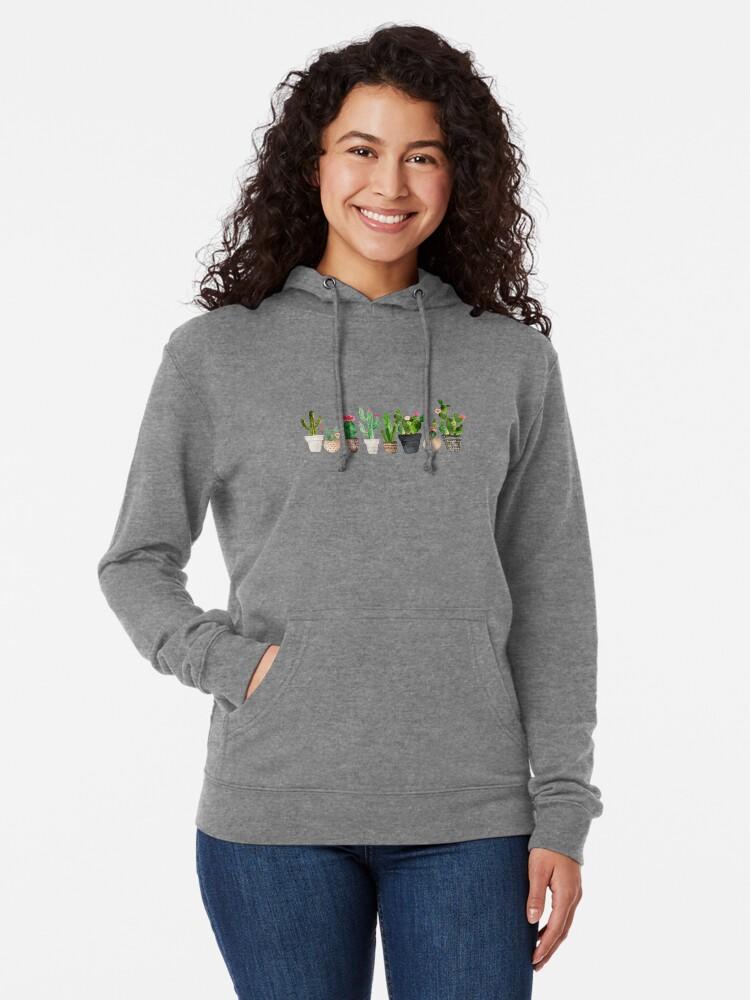 Alternative Ansicht von Kaktus Leichter Hoodie