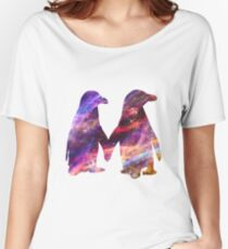 Space - Penguin Couple Women's Relaxed Fit T-Shirt