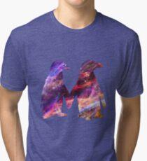Space - Penguin Couple Tri-blend T-Shirt