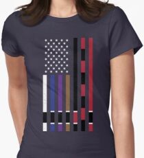 BJJ Stars and Stripes Women's Fitted T-Shirt