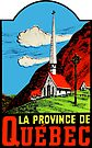 Quebec PQ Province Vintage Travel Decal by hilda74