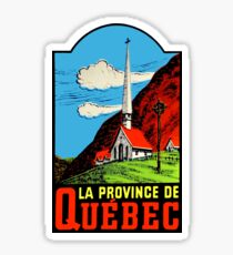 Quebec PQ Province Vintage Travel Decal Sticker