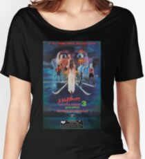 Say You Love Satan 80s Horror Podcast - A Nightmare on Elm Street 3 - Dream Warriors Women's Relaxed Fit T-Shirt