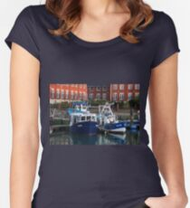 Fishing boats, Portsmouth, England Women's Fitted Scoop T-Shirt