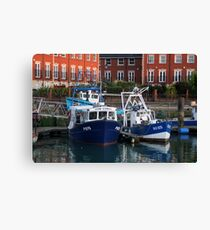 Fishing boats, Portsmouth, England Canvas Print