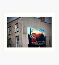 Dublin Billboard Art Print