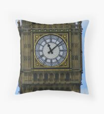 Big Ben Clockface Throw Pillow