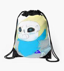 Blueberry sans Drawstring Bag