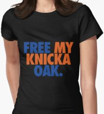 Free My Knicka Oak (Blue/Orange) Womens Fitted T-Shirt