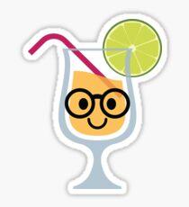 Fruit Juice Emoji Nerd Noob Glasses Sticker