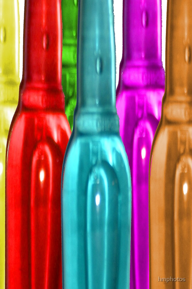 Coloured Bottles (long) by hmphotos