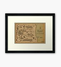 Map of Byron Bay Shire, Australia Framed Print