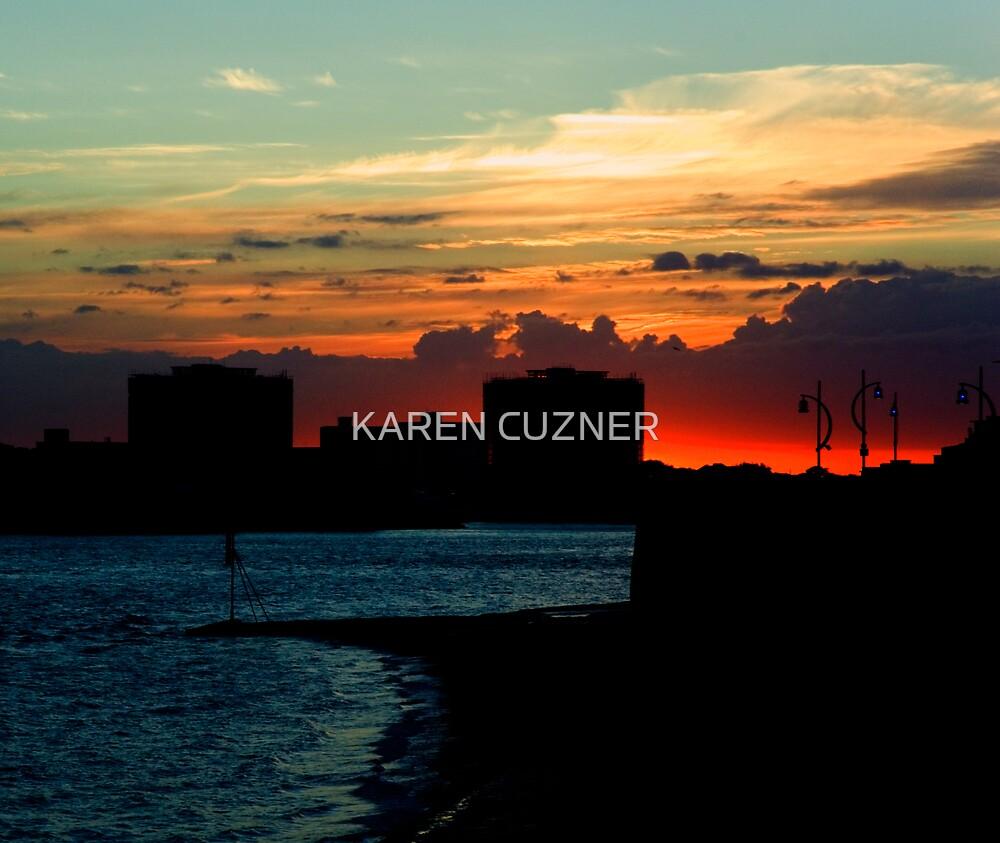 PORTSMOUTH CITY SUNSET by KAREN CUZNER