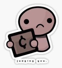 Judging you (light background) Sticker