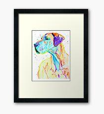 Graceful - great dane dog prints Framed Print