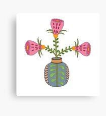 flower pot illustration 1 Canvas Print