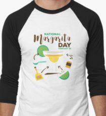 NATIONAL MARGARITA DAY Men's Baseball ¾ T-Shirt
