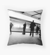 The Train Is Here Throw Pillow