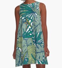 Tropical Print A-Line Dress