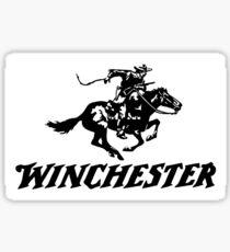 Pegatina Winchester blanco y negro