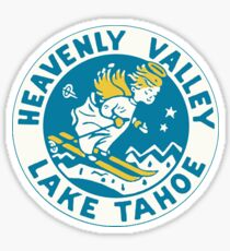 Heavenly Valley Lake Tahoe Vintage Travel Decal Sticker