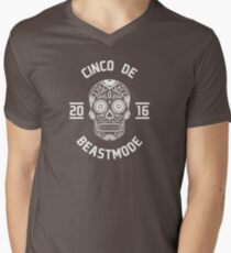 Cinco de Beast mode Mens V-Neck T-Shirt