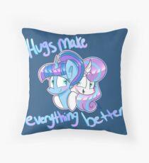 Hugs Make Everything Better GalHeart Design  Throw Pillow