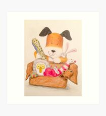 Childrens Classic kipper the dog Art Print
