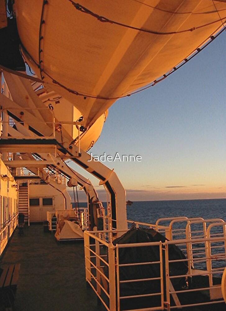 Sailing At Sunrise by JadeAnne