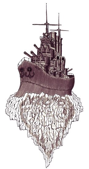Soul of the Battleship surreal black and white pen ink drawing by Vitaliy Gonikman