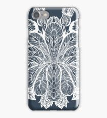 snow flowers. Flower pattern .White on blue iPhone Case/Skin