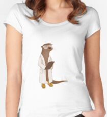 Science Otter! Women's Fitted Scoop T-Shirt
