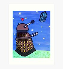Dalek and Tardis Art Print