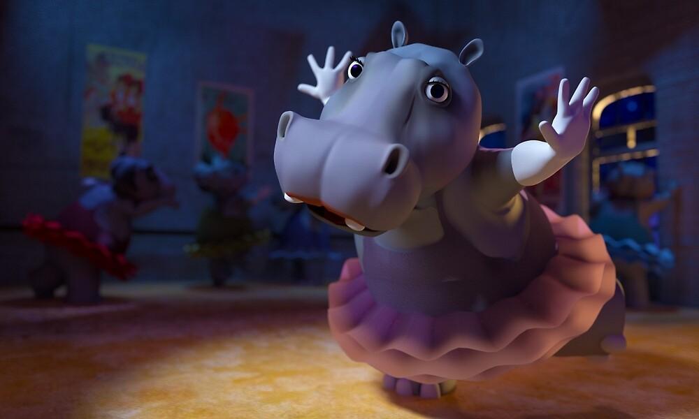 Hippo Ballet by Richard Rabassa