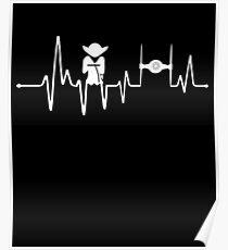 Yoda Heartbeat - Pulse Poster