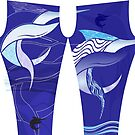 Blue Leggings - Marlin Maze by blackmarlinblog