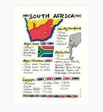 South Africa - A Poster Art Print