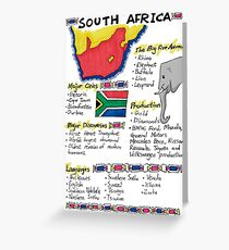 South Africa - A Poster Greeting Card
