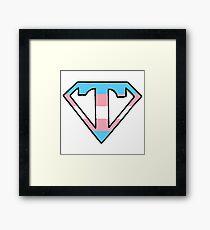 Transgender Superman logo Framed Print