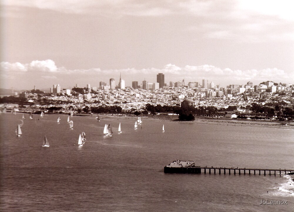 Boats In The Bay by JoLennox