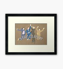 The Channel 4 news team (Stay classy) Framed Print