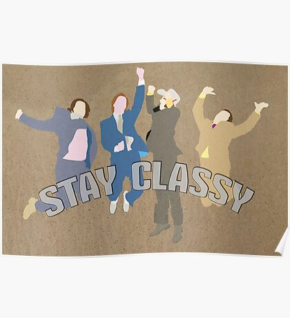 The Channel 4 news team (Stay classy) Poster