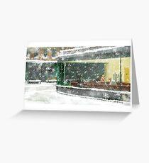 Christmas Nighthawks Greeting Card