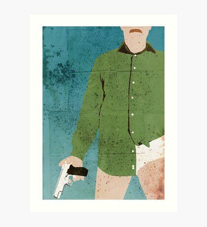 Walter White (distressed) Art Print