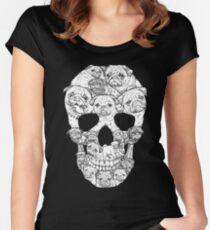 Pug Skull Women's Fitted Scoop T-Shirt