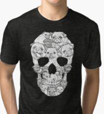 Mops-Schädel Vintage T-Shirt